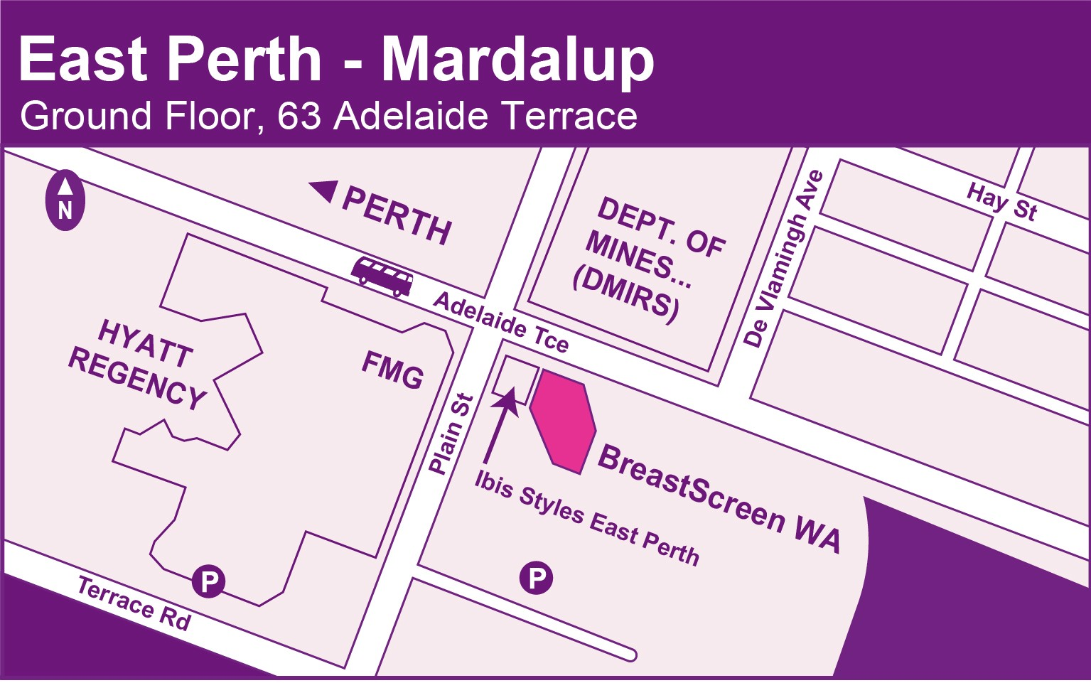 East Perth map
